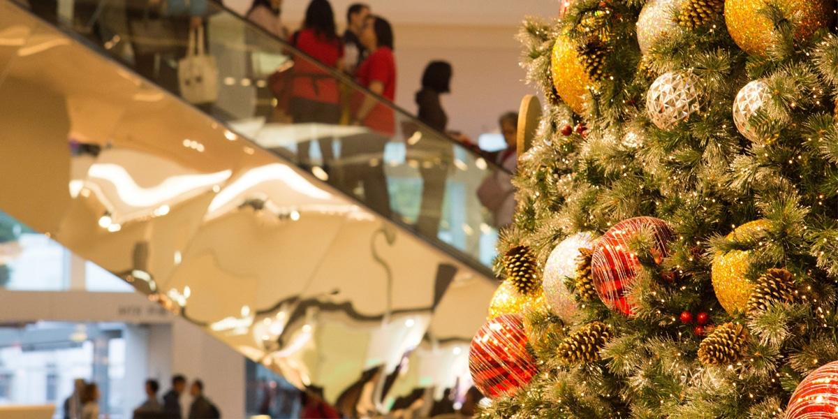 Holiday shopping scene