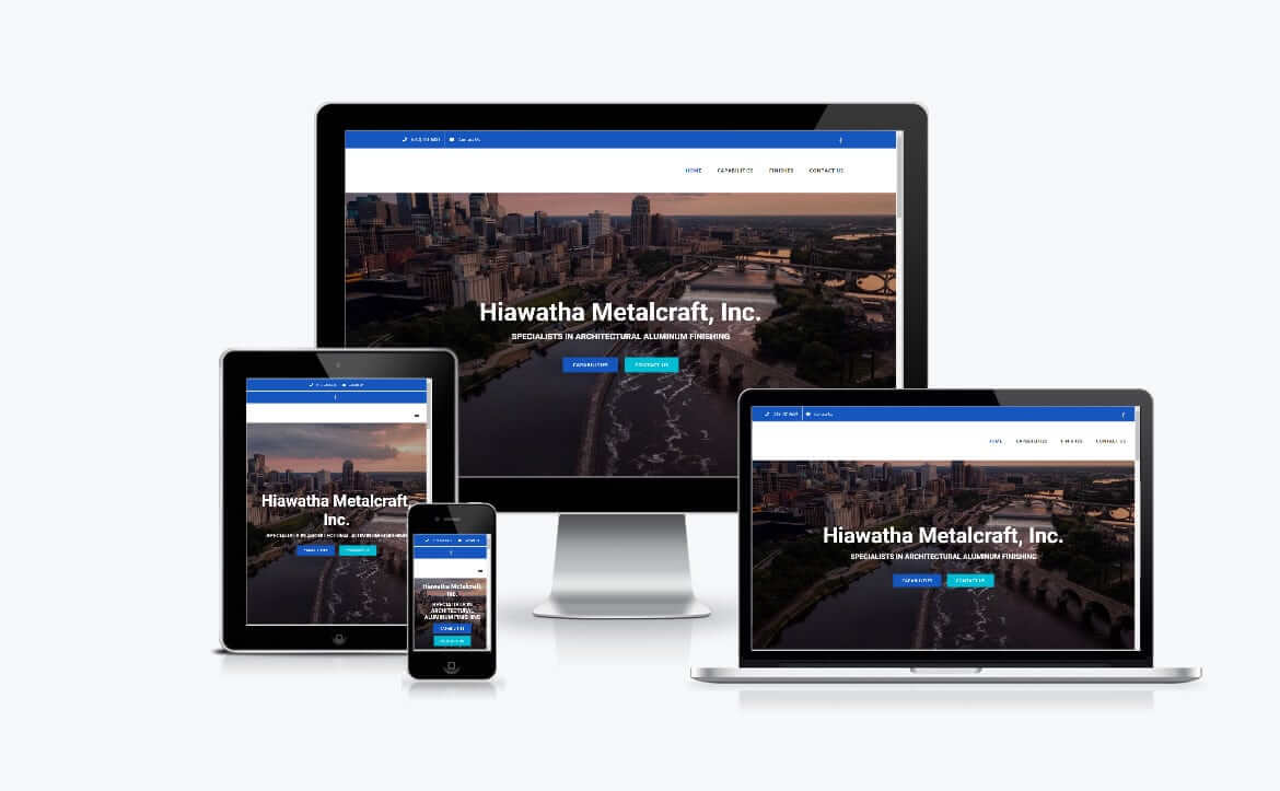 Web Design for Hiawatha Metalcraft Inc