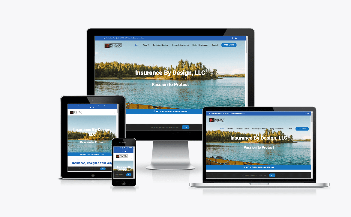 Website Design for Insurance By Design, LLC