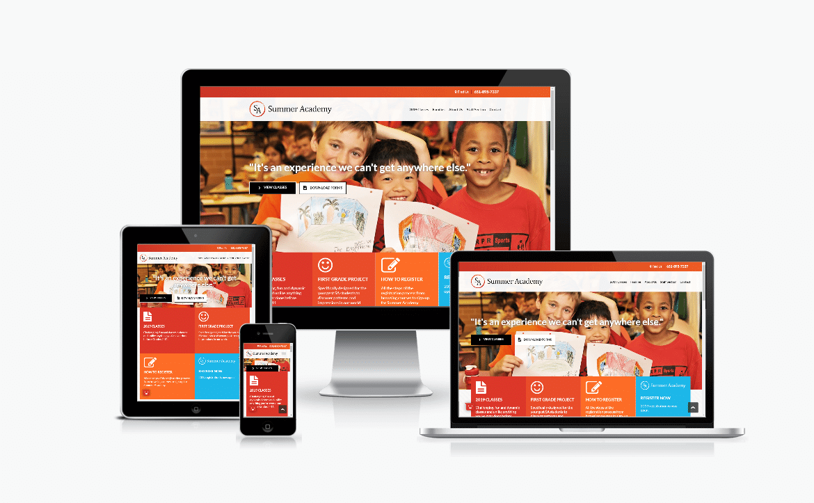 Website Design - Summer Academy
